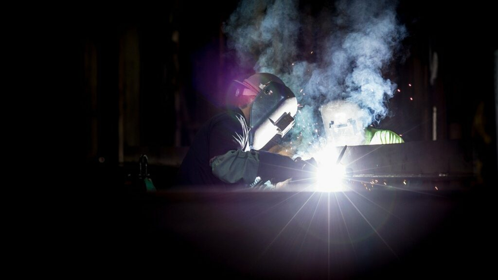 welding, dark, light